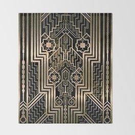 Art Nouveau Metallic design Throw Blanket