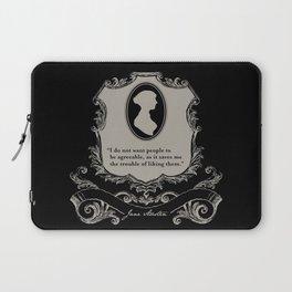Jane Austen Snarky Quote Laptop Sleeve