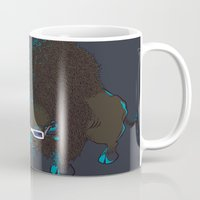 bison Mugs featuring Bison by Vó Maria