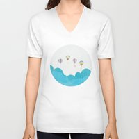 hot air balloon V-neck T-shirts featuring hot air balloon.. LOVE...  by studiomarshallarts