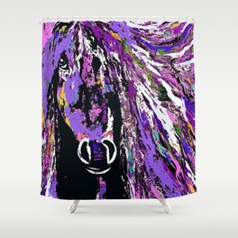 HORSE WILD AND PRETTY OIL PAINTNG Shower Curtain
