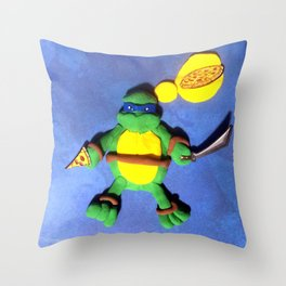 BLUE MASK NINJA Throw Pillow