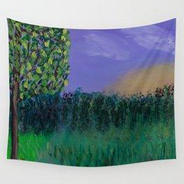 Backyard Sunrise Wall Tapestry