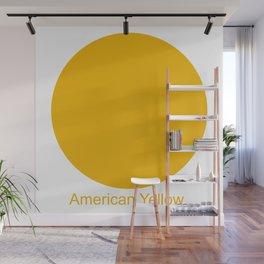American Yellow Wall Mural
