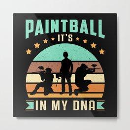 Paintball Airsoft Gotcha Retro Softair Gift Idea Metal Print