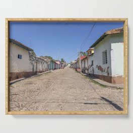 Streets of Trinidad, Cuba Serving Tray