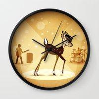 bambi Wall Clocks featuring BAMBI by kravic