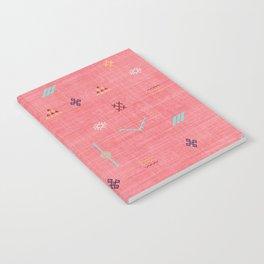 Cactus Silk Pattern in Pink Notebook