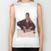 magritte Biker Tanks featuring Rene Magritte- self portrait by Dano77