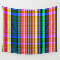 plaid Wall Tapestries featuring Perky Plaid by Sartoris ART