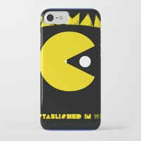pac man iPhone & iPod Cases featuring pac-man by CJones5105