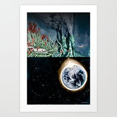Life on the event horizon 1 Art Print
