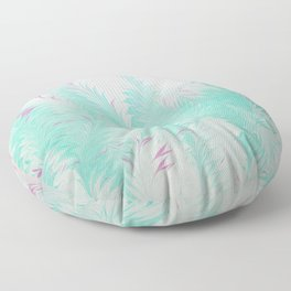 Light Blue Thistle Water Marbling Floor Pillow