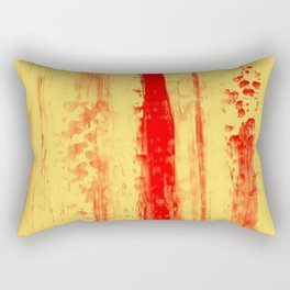 Gerhard Richter Inspired Abstract Urban Rain 3 Rectangular Pillow