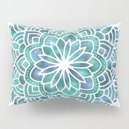 Mandala Succulent Blue Green Pillow Sham