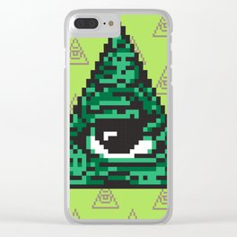 Illuminati pixel art Clear iPhone Case
