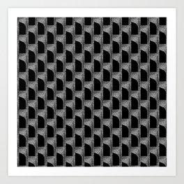 Black On Graphite Art Print