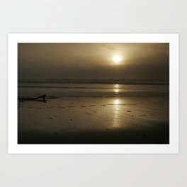 Foggy Sunset Art Print
