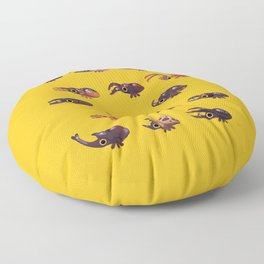 Rhino and Stag Floor Pillow