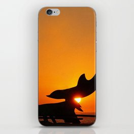 Dolphins Setting Sunset by Aloha Kea Photography iPhone Skin
