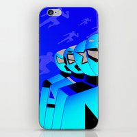power rangers iPhone & iPod Skins featuring power rangers legacy by magnificent