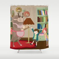 bread Shower Curtains featuring Bread monster  by Zorroalado