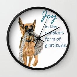 Dog Joy Wall Clock