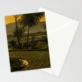 Tropical Landscape Sunset Scene Stationery Cards