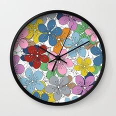 Cherry Blossom Colour - In Memory of Mackenzie Wall Clock