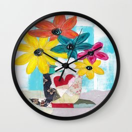 PATCHWORK VASE Wall Clock
