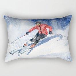 Winter Sport Rectangular Pillow