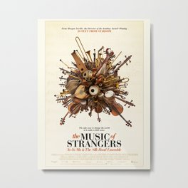 Poster-The Music of strangers. Metal Print