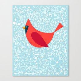 Cardinal Flowers, Carolina Blue Canvas Print
