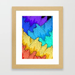 Rainbow Mounts Framed Art Print