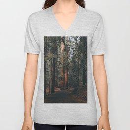 Walking Sequoia Unisex V-Neck