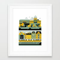 budapest Framed Art Prints featuring Budapest by koivo