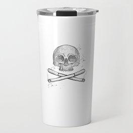 Mind If I Smoke Cool Skull Graphic Smoker Smoking Travel Mug