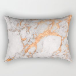 Copper Marble Rectangular Pillow