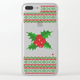 Knitted Mistletoe Clear iPhone Case