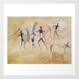 Cave art / Cave painting Art Print