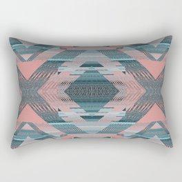 Retro Flow Aztec Geometric Modern Rectangular Pillow