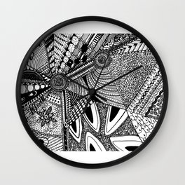 Geometrical abstraction Wall Clock
