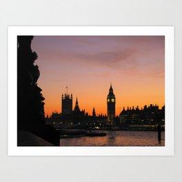The Sun Sets on England Art Print