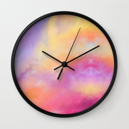 Bright Clouds Wall Clock