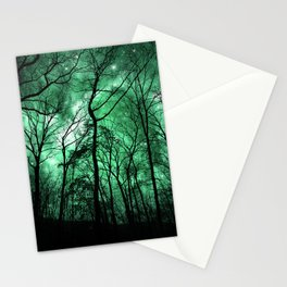 The Trees Reach Out at Night Stationery Cards