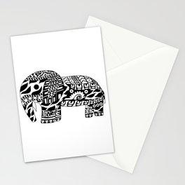 Mr elephant ecopop Stationery Cards