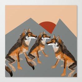 Totem Iberian wolf Canvas Print