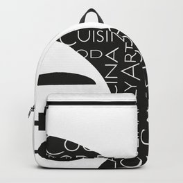 HAA-0093 Kitchen Art Eat And Drink 12x12 Backpack