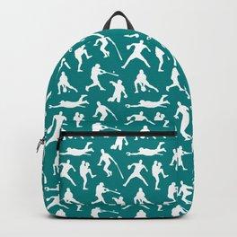 Baseball Players // Teal Backpack
