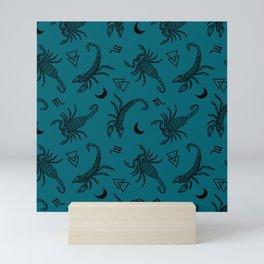 Scorpio Moon on Teal Mini Art Print